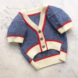 겨울 니트 개 옷 작은 개를위한 따뜻한 점퍼 스웨터 애완 동물 의류 코트 뜨개질 크로 셰 뜨개질 천으로 저지 페르로 B94503 201114
