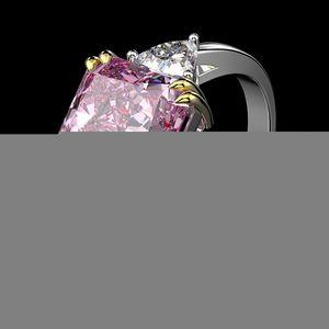 Wong Rain 100% 925 Sterling Silver Created Moissanite Citrine Sapphire Gemstone Wedding Engagement Ring Fine Jewelry Wholesale CX200622