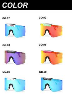 Sommer neue Mode Mann Pitttt Sonnenbrille doppelt breit polarisierte gespiegelte Goggles-Linse TR90 radfahren glasse 11colo im Freien winddichte Gläser