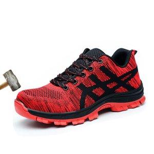 2020 Lakeshi Yeni İş Güvenliği Önyükleme ayakkabı erkekler Bot İnşaat Çelik Burun Cap Karşıtı çökertilmesi Açık Yok edilemez Casual Sneaker