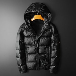 Wash down jacket new European fashion trend in popular logo handsome male cultivate one's morality short winter coat