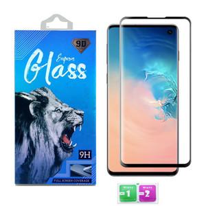 الزجاج المقسى لسامسونج غالاكسي S21 الترا S20 بلس S9 ملاحظة 20 الترا 10 حالة ودية كامل حافة الشاشة حامي شاشة 3D منحني مع مربع التجزئة