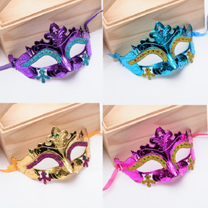 Sexy Men Women Costume Prom Mask Venetian Mardi Gras Party Dance Masquerade Ball Halloween Mask Fancy Dress Costume DHD3358