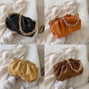 Bolsa de Vannogg Mais Nova Corrente Corrente Clipe Designer Bolsa Genuíno Saco De Papel De Couro Nuvem High Should Cloud Tote Women Bag Qualidade de luxo