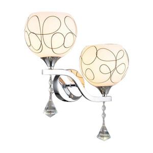 Glass ball wall lamp bedroom bedside E27 LED wall lamp living room aisle corridor warm romantic lighting mx4231625