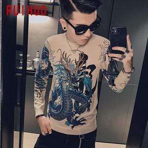 Ruihuo Dragon вязаный свитер мужская одежда тянуть свитера зимняя мужская одежда пуловер мужское пальто 2020 осень зима новый M-3XL