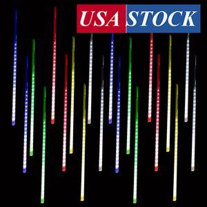 Ağaçlar için Yağmur Işıklar Beyaz, meteor yağmuru Lights, 480 LED'ler Yağmur Damlası Lights, Açık Icicle Kar Basamaklı Noel Dize ışıkları Falling