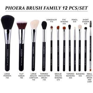 PHOERA Makeup Brushes Set Foundation Powder Concealer Blush Eyeshadow Lip Eye Makeup Brush Beauty Cosmetics Tools