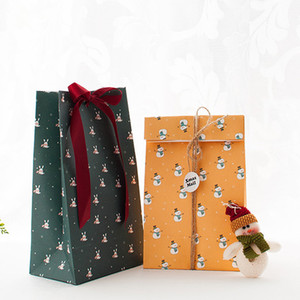 Christmas Gift Wrapping Paper Bag Xmas Party Cookies Present Gift Bag Christmas Party Decorations Supplies DHF3535