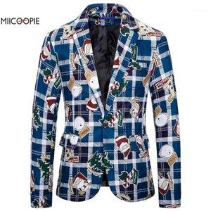 Miicoopie 2019 Blazer pour hommes Fashion drôle de style de Noël print de style pour hommes1