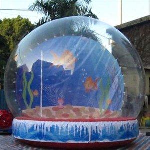 Schneekugel 3m 4m Hohe aufblasbare Weihnachtskugel für kommerzielle Show Großer Schneekugel mit freiem Gebläse Freies Verschiffen