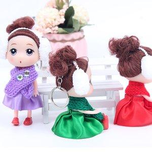12 см зима новый шарф запутанный кукла Привет Мэн Барби брелок Детские Новый год подарки для детей взрослых