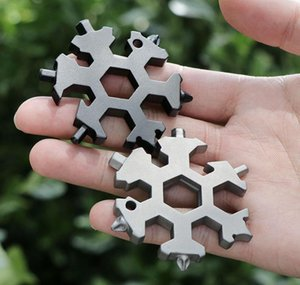 Snowflake Multi Tool 18 In 1 Snowflake Multitool Wrench Multitool Bottle Openers Key Ring Bike Fix Tool Snowflake Chr wmtaul mywjqq
