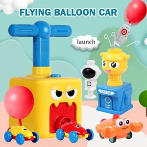 Funny Car Children Cute Car Inertial Power Balloon Toy Boy Hot Frog Duck Model Educational Science Experiment Toys For Kid Gifts 210128
