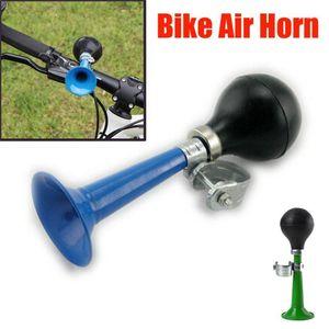 دراجة قرون الدراجة الرجعية المعادن الهواء القرن hooter بيل bell bugle المطاط ضغط bugle أجراس ciclismo في الهواء الطلق ركوب الدراجات الملحقات 1
