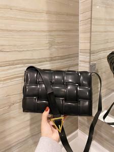 Diseñador- Diseñador de lujo de lujo bolso de hombro de mujer bolso de moda de calidad superior de cuero bolso trenzado