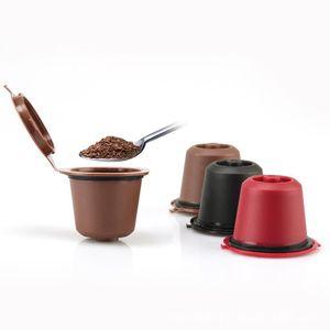 best seller Reusable Coffee Capsules Cup cycle use Black Refillable Coffee Capsule Refilling Filter Coffeeware Gift EEF3794