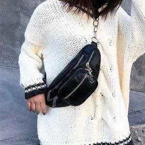 PU Leather Waist Packs Women Portable Chest Bags Mini Shoulder Bag Phone Purse Strap Pack