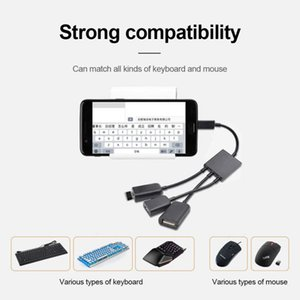 Hot Sale 3 In1 Micro OTG USB Port Game Mouse Keyboard Adapter Cable Micro-USB Adapter Converter For Tablet Android Mouse Keyboard