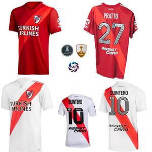 2019 2020 2021 리버 플레이트 축구 유니폼 Quintero Pratto 홈 멀리 3 위 20 21 축구 남자와 아이 셔츠