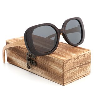 2020 Handmade Wood Sunglasses Polarized Woman Fashion Butterfly Shape Sun Glasses Polarizing Uv400 Eyewear for Women Dropship