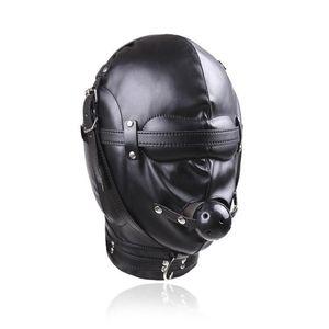 Qualität Gimp Full Raint Mask mit # R52 Haubenkugel Kugelgag Schwarz Mund Blindfold Xpfhr