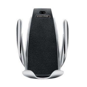 Ци беспроводное автомобильное зарядное устройство 10wfffast Charing Smart датчик датчик телефона сотовый телефон автоматическое зажимное автомобильное крепление S5 беспроводное зарядное устройство