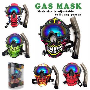 Máscara de gas con acrílico Bong Silicone Tubere Accesorios para fumar Máscara de silicona Hookah Shisha Shisha Envío gratis al por mayor