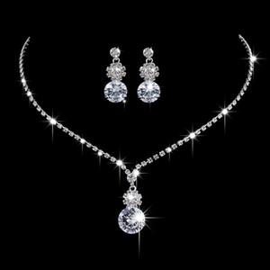 Set di due pezzi realizzati con swarovski cristallo stile scintillante fiore fiore inlaid Austria cristallo collana di matrimonio orecchino