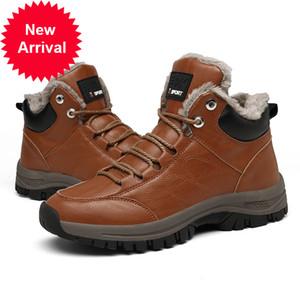 Nidengbao New Protective Snow Resistentes a resistentes a resistentes al desgaste cálido masculino y cómodos botas de invierno grandes 39-46