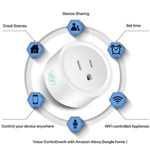 스마트 와이파이 플러그 US EU UK 콘센트 어댑터 16A 220V 무선 원격 음성 제어 전원 모니터 Google 홈 Alexa 타이밍 플러그 용 타이머 소켓