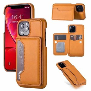 ID Card Pocket Case For Iphone 11 New 2019 Samsung Galaxy Note 10 Pro Multifunction Luxury Wallet PU Leather PC Holder Card Box Flip Cover
