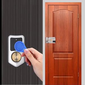 Умный дверной замок RFID датчик безопасности контроль доступа IC13.56 МГц карта дверной замок замок электронная поддержка аккумулятор