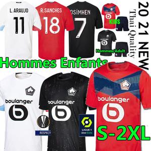أطقم الكبار Kids Losc Lille Soccer Jersey 2020 2021 Yazici Çelik Bamba Botman 20 21 Lille Olympique Jikone rsanches Maillot de Football Commir
