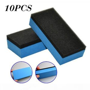 Universal 10pcs Car Ceramic Coating Sponge Glass Nano Wax Applicator Polish Pads Cleaning For Hair Removal And Cutter Cutting