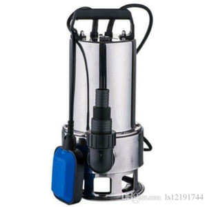 1.5HP Water Submersible Pump Stainless Steel Silver Clear Dirty Pool Pond Drain