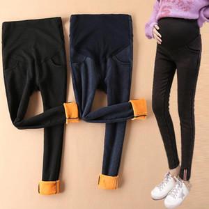 Denim Maternity Jeans Pantalons pour femmes enceintes Maternité Soins infirmiers de la grossesse Jeans Leggings Pantalons plus Velvet chaud