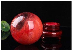 48--55 мм красный хрустальный шар красный выплавка камень хрустальный шар сферы кристалл заживление ремесла дома Jllhbh Garden_Light