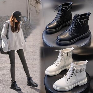 2020 Aautumn and winter new short boots thick-soled fashion summer breathable sandals female casual Martin boots female leather