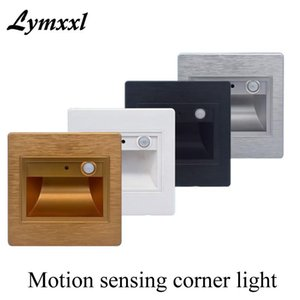 LED body sensor foot light 0.5w 2.5w Motion Sensing Led corner lights   Step lights   corridor wall lamp Stair Lamp AC85-265V