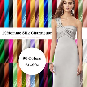 Liquefied fiber for tailors and clothes, soft elastic cloth for sewing, 90 colors, 114cm, 19mome, 95% silk, 5% silk, free delivery, summer