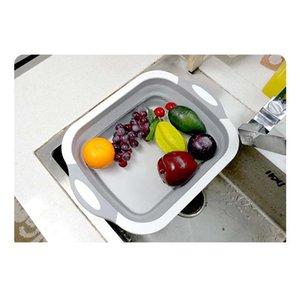 Cucina tagliere Blocco Tagliere pieghevole con colangers Cucina Tagliere Lavaggio Canestro Drain Kitchen O BbyCid