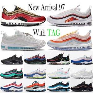 Nike Air Max 97 Bred 2020 Herren Sneaker 97s Balck Kugel Aurora Grün Unbesiegt Schwarz Weiß Haben Sie einen Tag Laufschuhe South Beach Women Trainer Größe 11