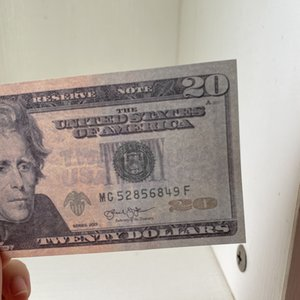 049 Monnaie de projectile la plus réaliste de 20 dollars Bar Pop Enfants Jouet Jouet Jeux Adulte Jeux Spécial Jeu de films Dollar Stage