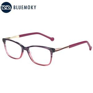 BLUEMOKY Marka Tasarım Kare Gözlük Çerçevesi Kadınlar Ultralight Asetat Kedi Göz Optik Gözlük Miyopi Reçete Gözlükler
