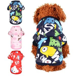 Pet Dog Winter Clothes Warm Printed Cotton Padded Hooded Jacket Down windproof Hoodies Coat for Chihuahua Small Medium Dogs