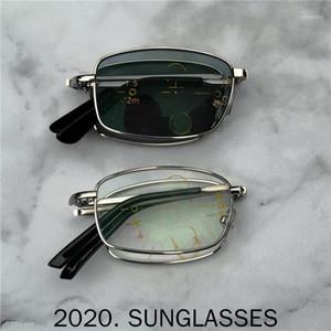 Quadratische Faltübergang Sonne photochromische Lesebrille Männer Multifokale Dioptrien Progressive Glasse Lesebrille FML1