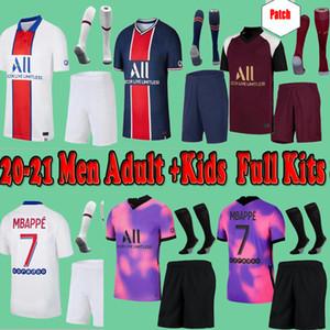 Maillots de Football Kits 20 21 Fourth Soccer Jersey 2020 2021 Mbappe icardi قميص الرجال الاطفال مجموعة موحدة مايلوت دي القدم باريس باريديس