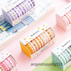 10 стилей / костюм Multi-Color Wasi Set Scrapbooking декоративная японская канцелярская наклейка для маскирующей ленты