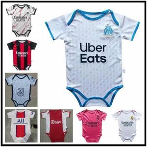 Marseille Ajax Baby Jersey 2020 Real Madrid 2 stelle Mbappe Baby Football Jersey 2020-2021 6-18 mesi Camicia da calcio
